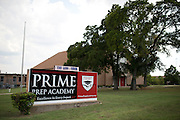 An exterior view of the Prime Prep Academy campus in Dallas, Texas on August 5, 2014. (Cooper Neill for The New York Times)