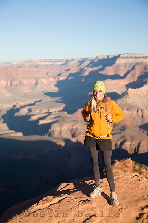 Hiking in the Grand Canyon. Grand Canyon NP, AZ.