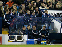 Fotball<br /> Premier League England 2004/2005<br /> Foto: SBI/Digitalsport<br /> NORWAY ONLY<br /> <br /> West Bromwich Albion v Newcastle United<br /> <br /> Newcastle's manager Graeme Souness is a notable absentee from his team's bench, as he serves a touchline ban.