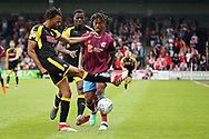 Rotherham United defender Michael Ihiekwe (20) clears this attack during the EFL Sky Bet League 1 match between Scunthorpe United and Rotherham United at Glanford Park, Scunthorpe, England on 12 May 2018. Picture by Nigel Cole.