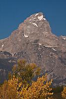 13,770 ft. Grand Teton of the Teton Range.  Grand Teton National Park, Wyoming, USA.