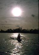 Peter Spurrier Sports  Photo<br />email pictures@rowingpics.com<br />Tel 44 (0) 7973 819 551<br />Photo Peter Spurrier<br />Sculler approaching Corney Reach