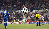 Photo: Leigh Quinnell.<br /> Derby County v Crystal Palace. Coca Cola Championship. 25/03/2006. Derbys Inigo Idiakez jumps for joy after scoring a goal.