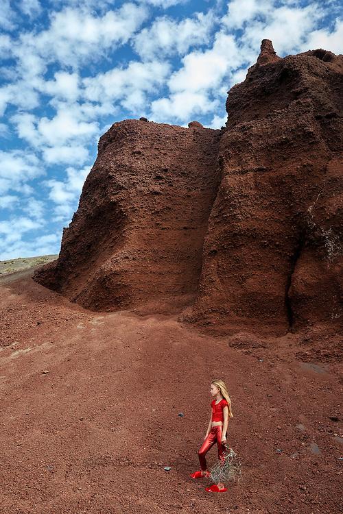Scimparello,Lanzarote,black lava.black beaches, lava beach, red,yporque,kids fashion,high fashion,kid editorials,