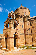 10th century Armenian Orthodox Cathedral of the Holy Cross on Akdamar Island, Lake Van Turkey 77 .<br /> <br /> If you prefer to buy from our ALAMY PHOTO LIBRARY  Collection visit : https://www.alamy.com/portfolio/paul-williams-funkystock/lakevanturkey.html<br /> <br /> Visit our TURKEY PHOTO COLLECTIONS for more photos to download or buy as wall art prints https://funkystock.photoshelter.com/gallery-collection/3f-Pictures-of-Turkey-Turkey-Photos-Images-Fotos/C0000U.hJWkZxAbg