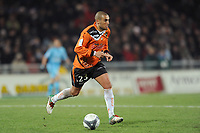 FOOTBALL - FRENCH CHAMPIONSHIP 2009/2010  - L1 - FC LORIENT v OLYMPIQUE MARSEILLE - 16/12/2009 - PHOTO PASCAL ALLEE / DPPI - YAZID MANSOURI (LOR)