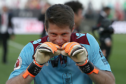 May 20, 2018 - Lisbon, Portugal - Aves' goalkeeper Adriano Facchini celebrates after winning the Portugal Cup Final football match CD Aves vs Sporting CP at the Jamor stadium in Oeiras, outskirts of Lisbon, on May 20, 2015. (Credit Image: © Pedro Fiuza/NurPhoto via ZUMA Press)
