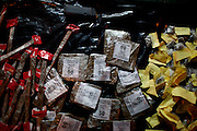 "Marijuana packages are seen at a drug selling point where crack is no longer for sale in the Mandela slum in Rio de Janeiro, Brazil, Aug.  7, 2012. <br /> <br />  The South American country began experiencing a public health emergency in recent years as demand for crack boomed and open-air ""cracolandias,"" or crack lands, popped up in the sprawling urban centers of Rio and Sao Paulo, with hundreds of users gathering to smoke the drug. The federal government announced in early 2012 that more than $2 billion would be spent to fight the epidemic, with the money spent to train local health care workers, purchase thousands of hospital and shelter beds for emergency treatment, and create transitional centers for recovering users."