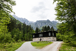 Tito's cabin in Kamniska Bistrica valley, on May 2, 2018 in Kamnik, Slovenia. Photo by Matic Klansek Velej / Sportida