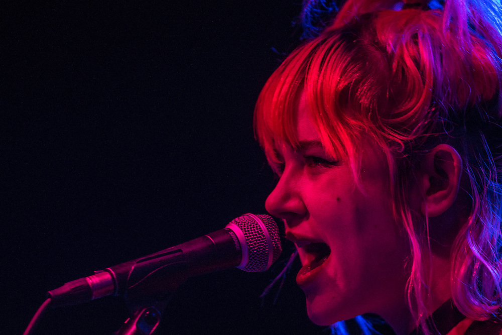 Jennifer Clavin of Bleached performing at Observatory Orange County May 4, 2016.