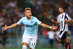 August 13, 2017 - Rome, Italy - Ciro Immobile of Lazio celebrating after the penalty of 0-1 scored  during the Italian Supercup match between Juventus and SS Lazio at Stadio Olimpico on August 13, 2017 in Rome, Italy. (Credit Image: © Matteo Ciambelli/NurPhoto via ZUMA Press)