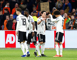 March 24, 2019 - Amsterdam, France - Germany's Nico Schulz and Leroy Sane celebrate after the match (Credit Image: © Panoramic via ZUMA Press)