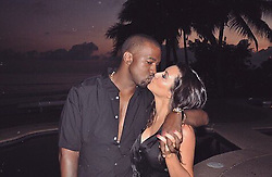 """Kim Kardashian releases a photo on Twitter with the following caption: """"""""Happy Valentines Day babe!!! I love you so much! 🥰"""""""". Photo Credit: Twitter *** No USA Distribution *** For Editorial Use Only *** Not to be Published in Books or Photo Books ***  Please note: Fees charged by the agency are for the agency's services only, and do not, nor are they intended to, convey to the user any ownership of Copyright or License in the material. The agency does not claim any ownership including but not limited to Copyright or License in the attached material. By publishing this material you expressly agree to indemnify and to hold the agency and its directors, shareholders and employees harmless from any loss, claims, damages, demands, expenses (including legal fees), or any causes of action or allegation against the agency arising out of or connected in any way with publication of the material."""