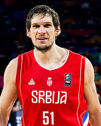 Boban Marjanovic of Serbia after winning during basketball match between National Teams of Russia and Serbia at Day 16 in Semifinal of the FIBA EuroBasket 2017 at Sinan Erdem Dome in Istanbul, Turkey on September 15, 2017. Photo by Vid Ponikvar / Sportida