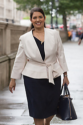 © Licensed to London News Pictures. 27/06/2016. LONDON, UK.  PRITI PATEL arrives for a cabinet meeting at 10 Downing Street this morning.  Photo credit: Vickie Flores/LNP
