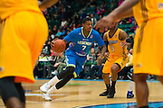 Ricky Ledo (7) of the Texas Legends drives to the basket against the Los Angeles D-Fenders on Friday, January 9, 2015 at the Dr. Pepper Arena in Frisco, Texas. (Cooper Neill/Special Contributor)