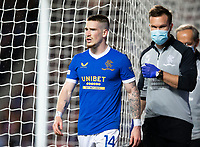 Football - 2021 / 2022  UEFA Europa League - Group A, Round One - Glasgow Rangers vs Lyon - Ibrox stadium - Thursday 16th September 2021<br /> <br /> Ryan Kent of Rangers goes off with an injury<br /> <br /> Credit: COLORSPORT/Bruce White