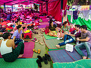 28 NOVEMBER 2017 - YANGON, MYANMAR: The outdoor sleeping area at St. Francis of Assisi Church in Yangon. About 1,500 people are camping at the church before the papal mass at Kyaikkasan Sports Ground, about three kilometers from the church.    PHOTO BY JACK KURTZ