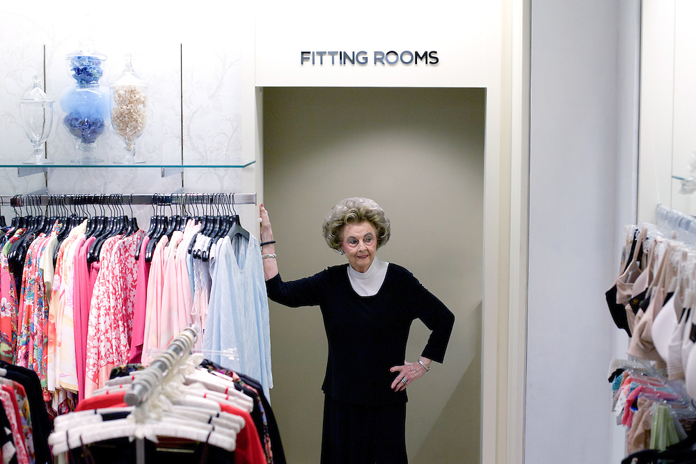 Earlene Moore, a 90-year-old bra fitter at Saks Fifth Avenue, got into the business in 1939 when the downtown stretch of Congress Avenue was full of department stores.  <br /> <br /> She opened her own lingerie shop in 1971 and fit Texas' political and social elite for over 20 years. Earlene closed her shop on Jefferson Square in 1995 and went into semi-retirement.  She was bored though, and when Saks offered her a job in 1997 she was back in business.
