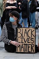 Black Lives Matter demonstration Southampton guildhall  photo by Dawn Fletcher-Park
