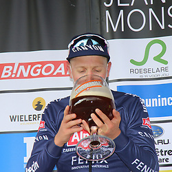 07-03-2020: Wielrennen: GP Monsere : Roeselare<br />ROESELARE (BELGIUM) CYCLING<br />Tim Merlier has won the GP Monseré 2021. The Alpecin-Fenix rider was first to the finish in the second round of the Bingoal Cycling Cup. Merlier surprised the competition by attacking early. Mark Cavendish finished a few bike lengths behind Timothy Dupont.