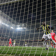 Fenerbahce's scores during their UEFA Europa League Semi Final first match Fenerbahce between Benfica at Sukru Saracaoglu stadium in Istanbul Turkey on Thursday 25 April 2013. Photo by Aykut AKICI/TURKPIX