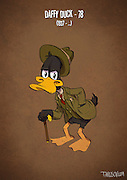 If Cartoon Characters Looked Their Age<br /> <br /> Andrew Tarusov, a Russian artist, created a series of illustrations portraying our favourite cartoon characters as pensioners. The artist imagined each of them having had a long and complicated life.<br /> <br /> Micky is the animation tycoon, Goofy didn't get insurance and became homeless, Daisy left Donald because of his gambling, Tom & Jerry have health problems because of their reckless youth and many of them are older than 80.<br /> <br /> Andrew Tarusov has  settled down in Los Angeles, California. Having studies for 10 years, his occupation is art and animation. He likes vintage style Pin-Ups and comics.<br /> <br /> Photo shows: Daffy Duck – 78 (1937 – …)<br /> ©Excluisvepix Media