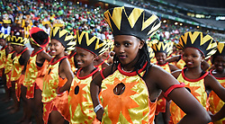 Cape Town-180519 The  Nedbank Cup final ceremony at Cape Town stadium before the start of the game .photograph:Phando Jikelo/African News Agency/ANA