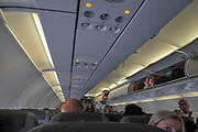 interior of the cabin of a Lufthansa Airbus A321