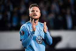 February 14, 2019 - MalmÃ, Sweden - 190214 Lasse Nielsen of Malmö FF recognizes the audience after the Europa league match between Malmö FF and Chelsea on February 14, 2019 in Malmö..Photo: Ludvig Thunman / BILDBYRÃ…N / kod LT / 92225 (Credit Image: © Ludvig Thunman/Bildbyran via ZUMA Press)