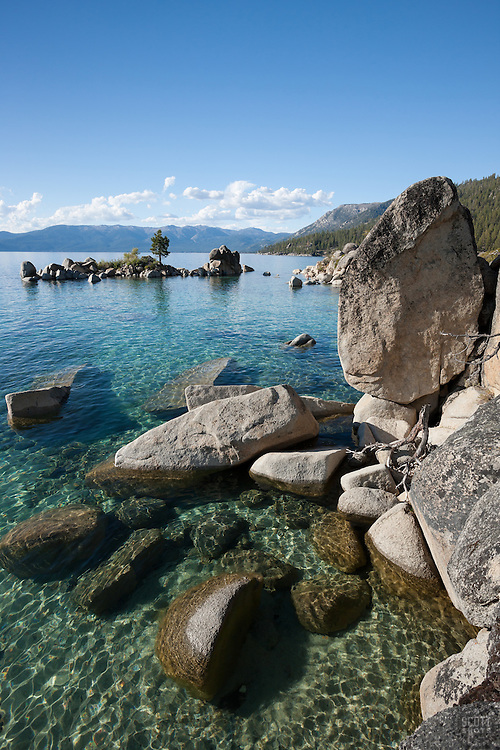 """""""Boulders at Lake Tahoe 34"""" - These boulders were photographed along the shore at Whale Beach, Lake Tahoe."""