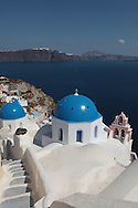 A walk in the town of Oai on the island of Santorini.  Photograph by Dennis Brack