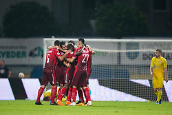 Players of FC Ufa celebrate goal during 2nd Leg football match between NK Domzale and FC Ufa in 2nd Qualifying Round of UEFA Europa League 2018/19, on August 2, 2018 in Sports Park Domzale, Domzale, Slovenia. Photo by Urban Urbanc / Sportida