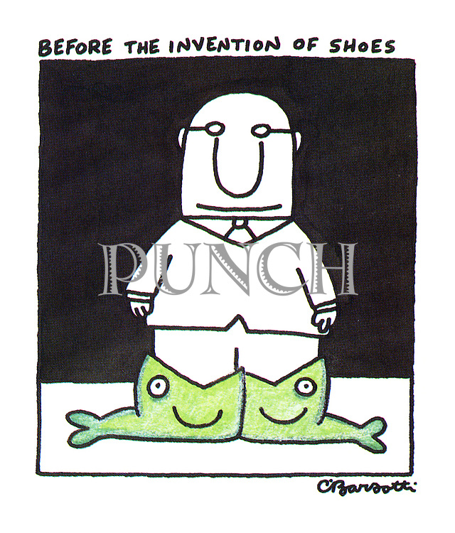 Before the invention of shoes.