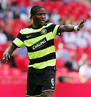 Celtic FC vs Al Ahly Wembley Cup 24/07/09<br /> Photo Nicky Hayes/Fotosports International<br /> Celtic midfielder Landry N'Guemo makes his point.