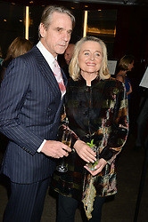 JEREMY IRONS and SINEAD CUSACK at a dinner hosted by Liberatum to honour Francis Ford Coppola held at the Bulgari Hotel & Residences, 171 Knightsbridge, London on 17th November 2014.