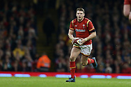 Dan Biggar of Wales in action. RBS Six Nations 2017 international rugby, Wales v Ireland at the Principality Stadium in Cardiff , South Wales on Friday 10th March 2017.  pic by Andrew Orchard, Andrew Orchard sports photography