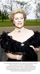 Former debutante MRS DAVID EWART at a fashion photo call in London on 15th April 2002.OYX 33