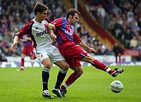 Photo:  Frances Leader, Digitalsport<br /> Crystal Palace v Middlesbrough. Barclays English Premier League.<br /> Selhurst Park.<br /> 02/04/2005<br /> Palace's Dougie Freedman and Middlesbrough's Chris Riggott battle for the ball.