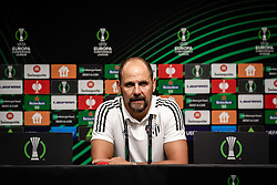 Ante Simundza, head coach of NS Mura during press conference after football match between NS Mura and Vitesse (NED) in 1st round of UEFA Europa Conference League 2021/22, on 16 of September, 2021 in Ljudski Vrt, Maribor, Slovenia. Photo by Blaž Weindorfer / Sportida