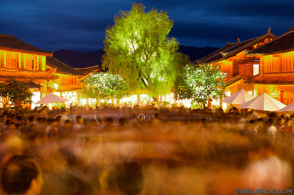 The locals gather every evening in Lijiang, China to dance for (and with) the tourists.