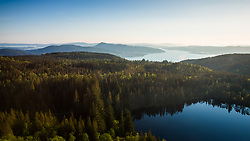 View from hiking between Fløyen and Ulriken mountains, Bergen, Norway. 19/05/14. Photo by Andrew Tallon