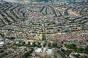 Nederland, Amsterdam, Centrum, 17-06-2008; overzicht van de Amsterdamse binnenstad met de 17e eeuws grachtengordel; onder in beeld het Rijksmuseum en de Weteringschans (van links naar rechts); in het verlengde vaan het museum de Spiegelgracht en Nieuwe Spiegelstraat, aan de horizon de IJ-oever aan weerszijden van het Centraal Station; ..luchtfoto (toeslag); aerial photo (additional fee required); .foto Siebe Swart / photo Siebe Swart