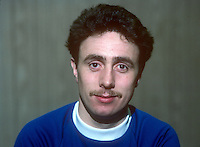 Stephen McKee, footballer, Linfield FC, Belfast, N Ireland, January, 1982, 198201000003<br /> <br /> Copyright Image from Victor Patterson, Belfast, UK<br /> <br /> t: +44 28 9066 1296 (from Rep of Ireland 048 9066 1296)<br /> m: +44 7802 353836<br /> e: victorpattersonbelfast@gmail.com<br /> <br /> www.images4media.com<br /> <br /> Please see my full Terms and Conditions of Use at https://www.images4media.com/p/terms-conditions - it is IMPORTANT that you familiarise yourself with them.<br /> <br /> Images used online incur an additional cost. This cost should be agreed in writing in advance. Online images must be visibly watermarked i.e. © Victor Patterson or that of the named photographer within the body of the image. The original metadata must not be deleted from images used online.<br /> <br /> This image is only available for the use of the download recipient i.e. television station, newspaper, magazine, book publisher, etc, and must not be passed on to a third party. It is also downloaded on condition that each and every usage is notified within 7 days to victorpattersonbelfast@gmail.com.<br /> <br /> The right of Victor Patterson (or the named photographer) to be identified as the author is asserted in accordance with The Copyright Designs And Patents Act (1988). All moral rights are asserted.