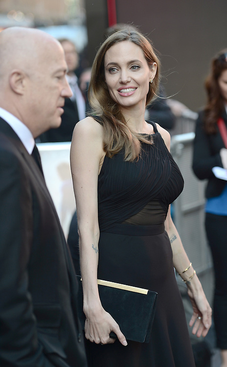 Brad Pitt and Angelina Jolie attend the World War Z premiere in London.