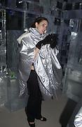 Karen Oberton. Opening of the Absolut Icebar. Heddon St. London. 29 September 2005. ONE TIME USE ONLY - DO NOT ARCHIVE © Copyright Photograph by Dafydd Jones 66 Stockwell Park Rd. London SW9 0DA Tel 020 7733 0108 www.dafjones.com