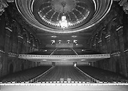 """Ackroyd 00058- 33. """"Oriental Theatre. Interiors & exteriors. February 7, 1947"""" 822 SE Grand. interior, audience seating, view from stage"""