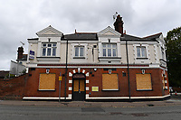 Football - 2019 / 2020 Premier League - Watford vs. Leicester City<br /> <br /> A boarded up pub opposite the ground, at Vicarage Road.<br /> <br /> COLORSPORT/ASHLEY WESTERN