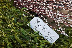 Mistletoe for sale at weekend market inn Berlin, Germany