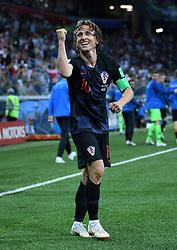 NIZHNY NOVGOROD, June 21, 2018  Luka Modric of Croatia celebrates his scoring during the 2018 FIFA World Cup Group D match between Argentina and Croatia in Nizhny Novgorod, Russia, June 21, 2018. Croatia won 3-0. (Credit Image: © Li Ga/Xinhua via ZUMA Wire)